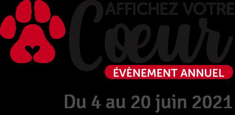 Affichez Votre Coeur événement annuel. Du 4 au 20 juin 2021.